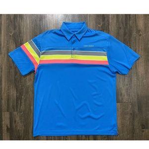Under Armour Heatgear Striped Polo Golf Shirt XL